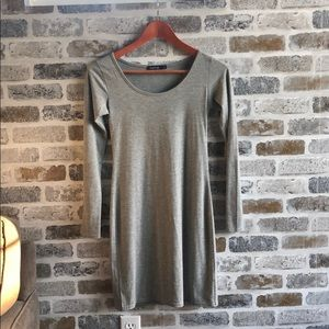 Light Grey Body Con Dress